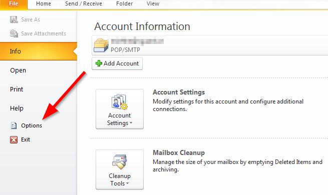 Sao lưu email trong Outlook - Export file .PST - Bước 1