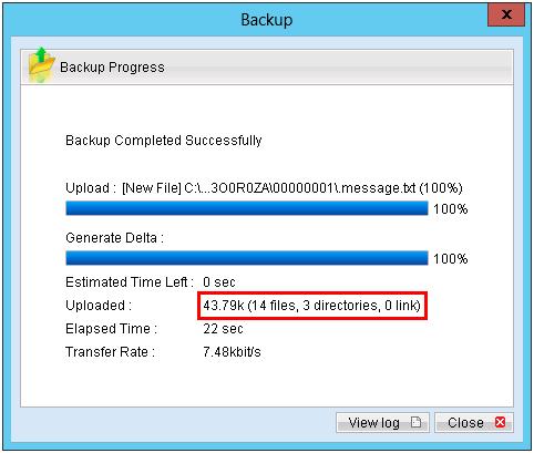 zBackup sao lưu Incremental backup từ lần thứ 2 trở đi