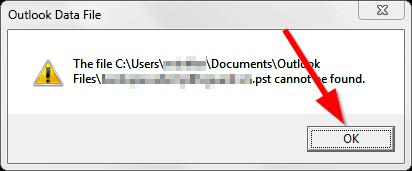 File .PST bị lỗi