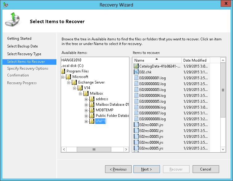 Phục hồi Mailbox trong Exchange Server 2010
