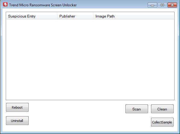 Màn hình Trend Micro Ransomware Screen Unlocker Tool